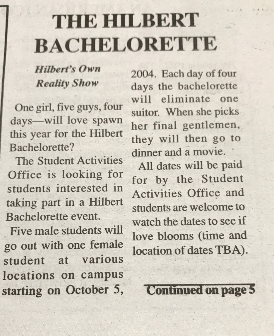 The Hilbert Bachelorette Photo