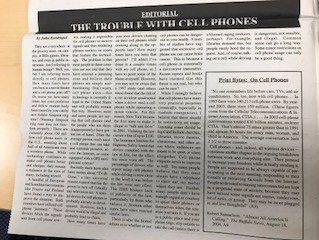 hfiles trouble with cell phones